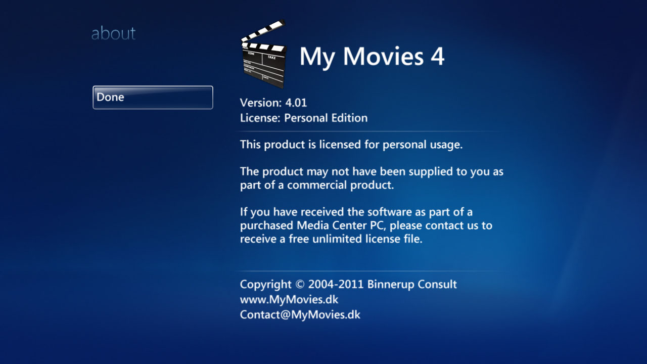 My Movies - Windows Media Center