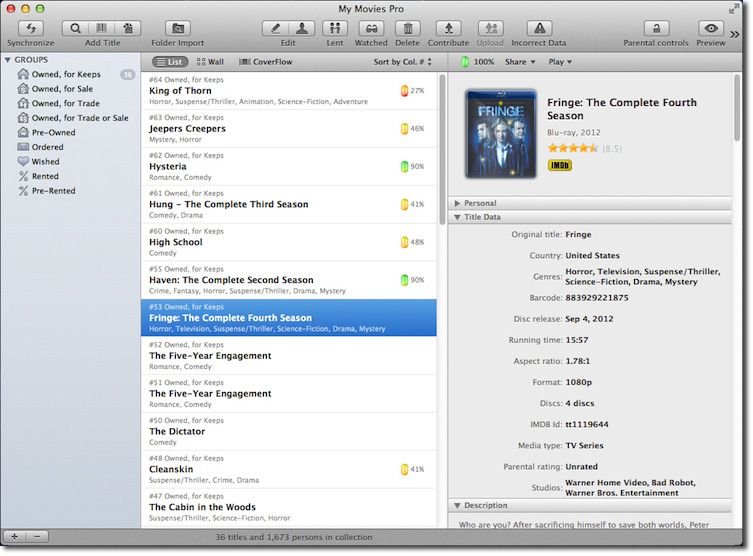 My Movies - Migrating from DVD Profiler to My Movies