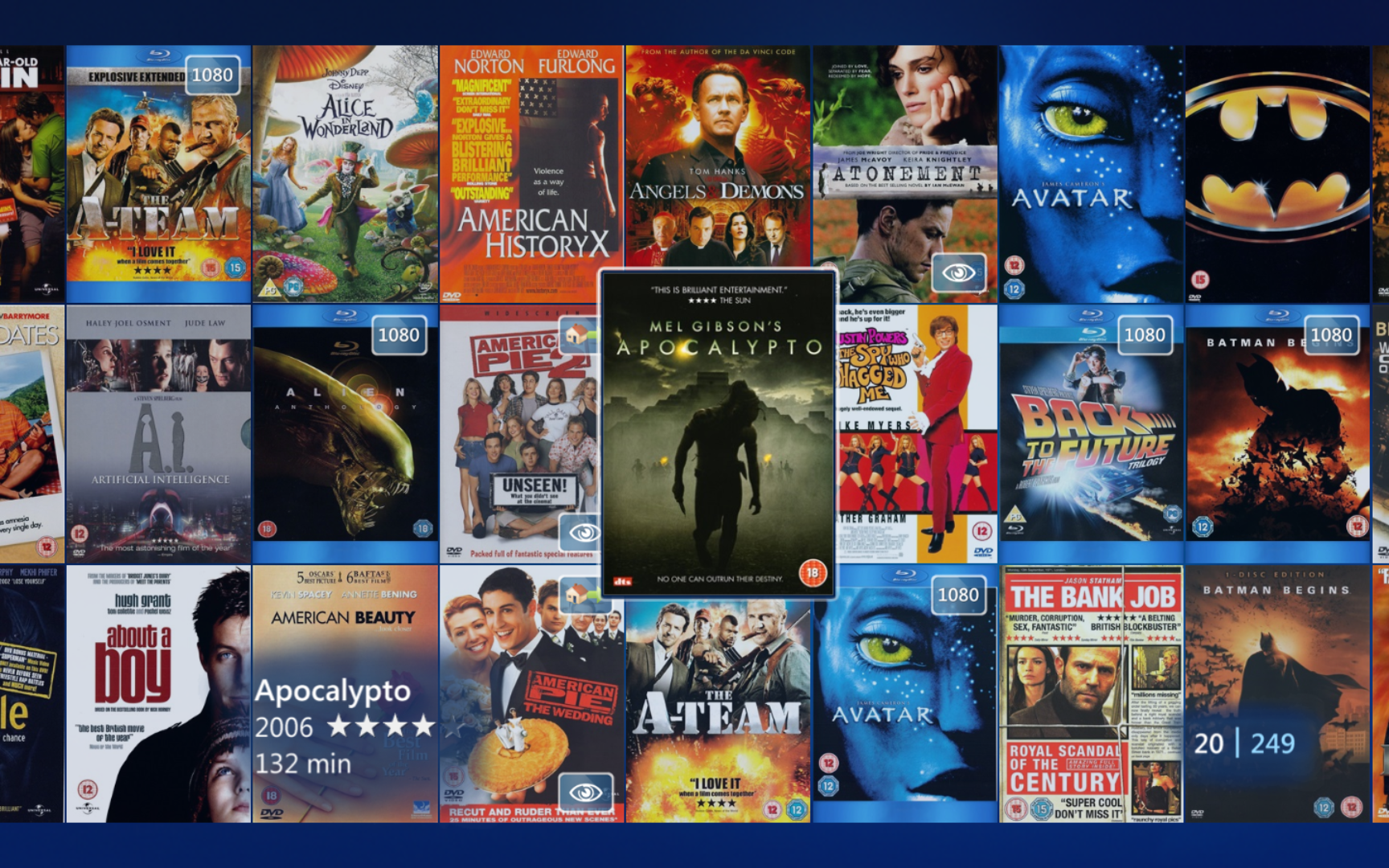 every movie hayden m owns on dvd blu ray how many have you seen