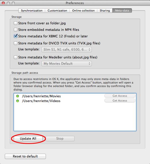 my xbmc meta data storage
